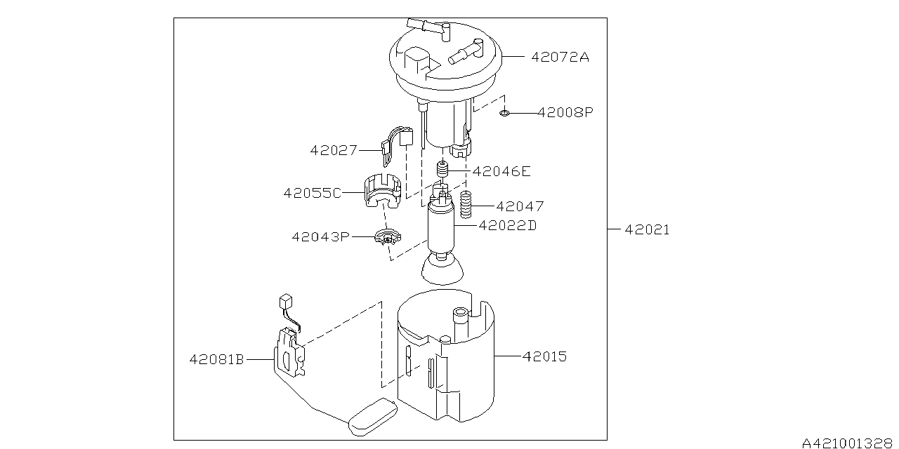 Fuel Tank 03 Pump Subaru Legacy Diagram