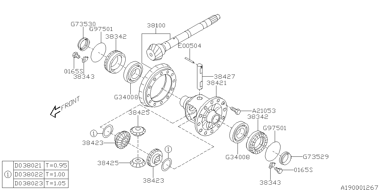 Differential Transmission 01 Subaru Foresterjf12 Diagram